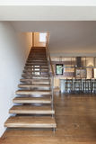Modern loft, staircase view Royalty Free Stock Photos