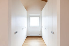 Modern loft, view of the wardrobes Stock Image