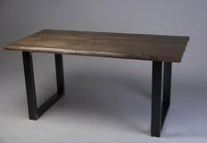 Modern loft wooden table studio shot Royalty Free Stock Photos