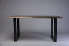 Modern loft wooden table studio shot Royalty Free Stock Photography