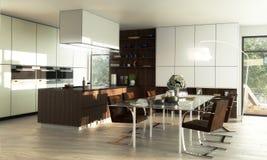 Modern Lofted Kitchen stock photos