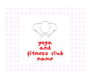 Modern log for a young YOGA club Royalty Free Stock Photo