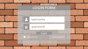 Modern login form for website Stock Photography