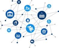 Modern logistics & SCM processes - illustration royalty free illustration