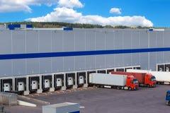 Modern logistiekcentrum Stock Afbeelding