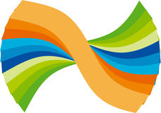 Modern logo. Illustration of modern logo design isolated on white background Royalty Free Stock Photo