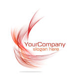 Modern logo design. Awesome wave modern design of logo Royalty Free Stock Photo