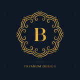 Modern logo design. Geometric initial monogram template. Letter emblem B. Mark of distinction. Universal business sign for brand  Royalty Free Stock Photography