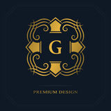 Modern logo design. Geometric initial monogram template. Letter emblem G. Mark of distinction. Universal business sign for brand  Stock Photos