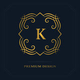 Modern logo design. Geometric initial monogram template. Letter emblem K. Mark of distinction. Universal business sign for brand  Royalty Free Stock Image