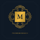 Modern logo design. Geometric initial monogram template. Letter emblem M. Mark of distinction. Universal business sign for brand  Stock Photos
