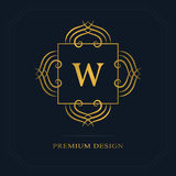 Modern logo design. Geometric initial monogram template. Letter emblem W. Mark of distinction. Universal business sign for brand  Stock Photography