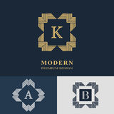 Modern logo design. Geometric linear monogram template. Royalty Free Stock Image