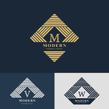 Modern logo design. Geometric linear monogram template Stock Photo