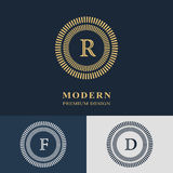 Modern logo design. Geometric linear monogram template. Stock Images