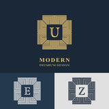 Modern logo design. Geometric linear monogram template Stock Images