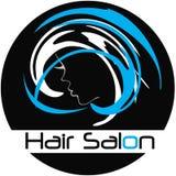 Modern logo för hårsalong Arkivbild