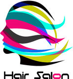 Modern logo för hårsalong Arkivfoto