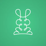 Modern logo in linear design with rabbit. Vector illustration Stock Photos