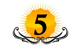 Modern Logo Number 5 Stock Foto