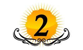 Modern Logo Number 2 Stock Afbeelding