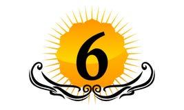Modern Logo Number 6 Stock Afbeeldingen
