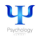 Modern logo of Psychology. Psi. Creative style. Logotype in vector. Design concept.  Stock Photo