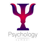 Modern logo of Psychology. Psi. Creative style. Logotype in vector. Royalty Free Stock Images