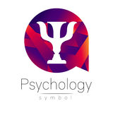 Modern logo of Psychology. Psi. Creative style. Logotype in vector. Design concept. Royalty Free Stock Photography