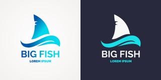 Modern logo for sea fishing. Vector graphics Royalty Free Stock Image
