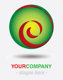 Modern logodesign royaltyfri fotografi