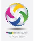 Modern logodesign Arkivbilder