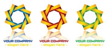 Modern logodesign stock illustrationer