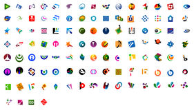 Modern logos - 109 nos Royalty Free Stock Photo