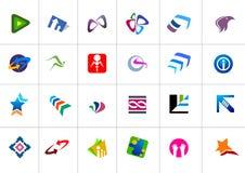 Twenty four modern shiny  logos  Royalty Free Stock Photo