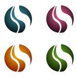 Modern logos s. 4 modern shiny logos, isolated on white background Stock Illustration