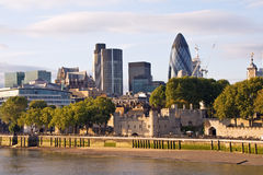 Modern London cityscape Royalty Free Stock Photos