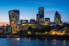 Modern London cityscape Royalty Free Stock Images