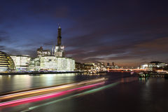 Modern London cityscape in night Stock Photo