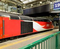 Modern London and North Eastern Railway locomotive in York Station royalty free stock photos
