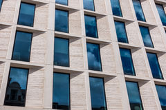 Modern London office showing stone cladding Royalty Free Stock Photography