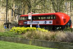 Modern London Red Bus royalty free stock photo