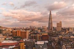 Free Modern London Skyline With Shard Building Horizon At Sunset On C Royalty Free Stock Photo - 109275325