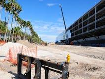 Modern long building during construction, Florida, USA Royalty Free Stock Image