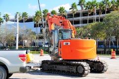 Modern long building during construction, Florida Stock Photo