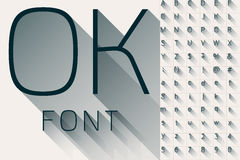Modern long transparent shadow alphabet. Vector illustration of flat modern long transparent shadow alphabet Royalty Free Stock Image