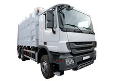 The modern lorry. Isolated on a white background Royalty Free Stock Photo