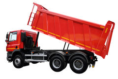 The modern lorry. Isolated on a white background royalty free stock images