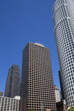 Modern Los Angeles Downtown Buildings Cityscape. Cityscape of modern, historic and landmark buildings in downtown Los Angeles, California, USA. Downtown Los Stock Images