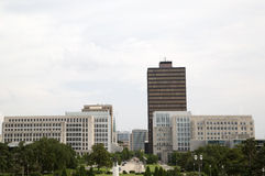 Modern Louisiana state capitol buildings stock image